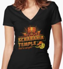 Greetings From Scrabania Temple Women's Fitted V-Neck T-Shirt
