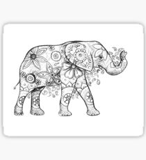 Decorated Elephant Sticker
