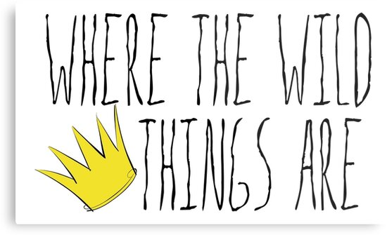 Where the Wild Things Are - Crown Title Cutout