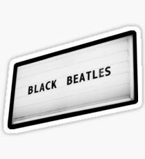 Black Beatles Sticker