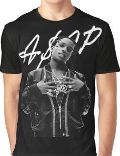 A$AP Rocky White Signature Graphic T-Shirt