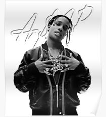 A$AP Rocky White Signature Poster
