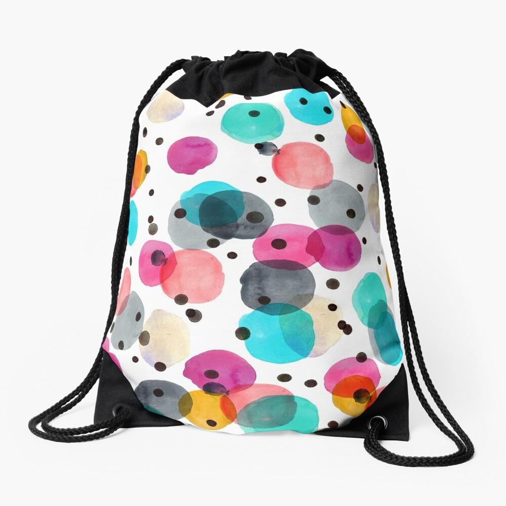 Festive Dots Drawstring Bag