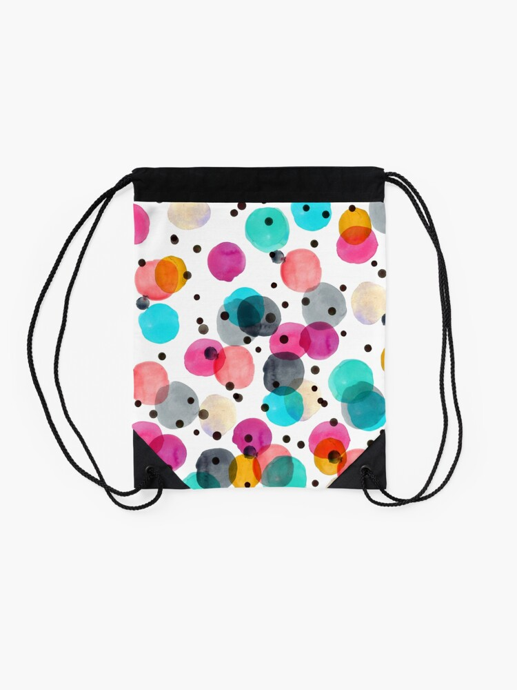 Alternate view of Festive Dots Drawstring Bag