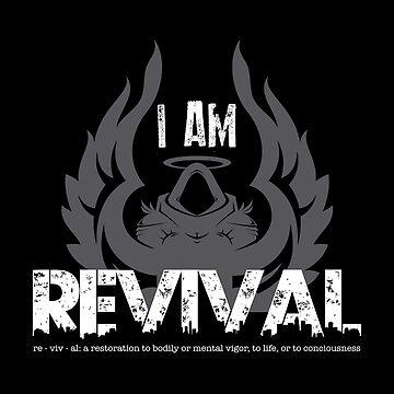 I Am Revival - Gray Angel Version Merch by exodusrising