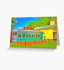 Boxcar Diner  Greeting Card