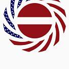 Latvian American Multinational Patriot Flag Series by Carbon-Fibre Media