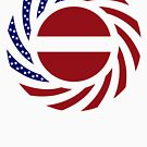 Latvian American Multinational Patriot Flag Series by Carbon-Fibre Media