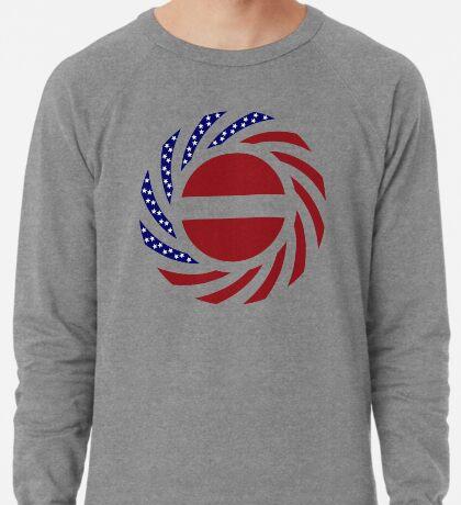 Latvian American Multinational Patriot Flag Series Lightweight Sweatshirt