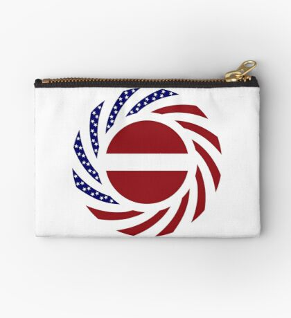 Latvian American Multinational Patriot Flag Series Zipper Pouch