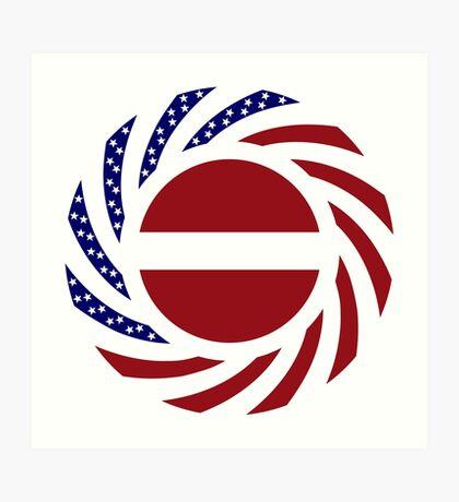 Latvian American Multinational Patriot Flag Series Art Print