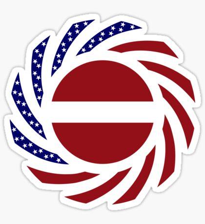 Latvian American Multinational Patriot Flag Series Sticker