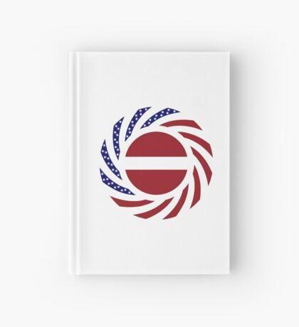 Latvian American Multinational Patriot Flag Series Hardcover Journal