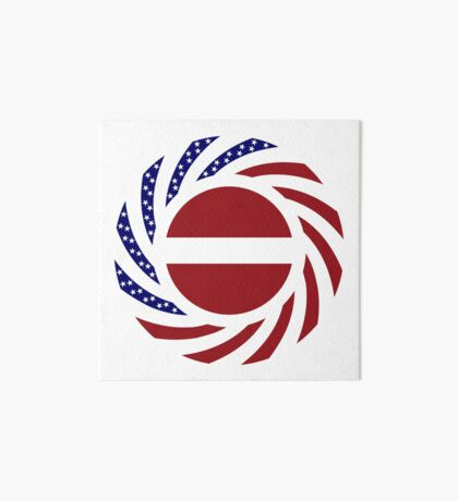 Latvian American Multinational Patriot Flag Series Art Board Print
