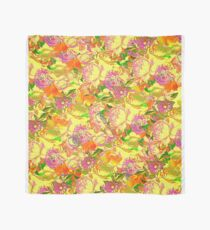 Textured Flowers Yellow Scarf