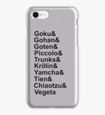 Z-fighters (Dragon Ball Z) iPhone Case/Skin