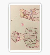 Usagi and Mamoru Sticker