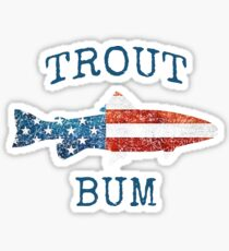 Fly Fishing Trout Bum Sticker