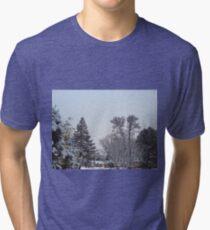 Winter Morning Snow Scene Tri-blend T-Shirt