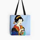 Geisha with Fish Tote by Shulie1