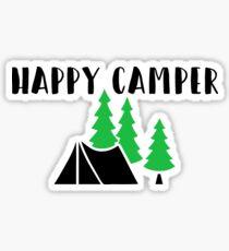 """Cute, Funny Camping """"Happy Camper"""" Sticker"""