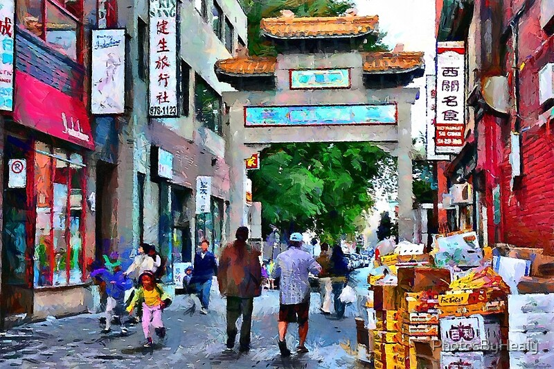 Chinatown - painted by Photos by Healy