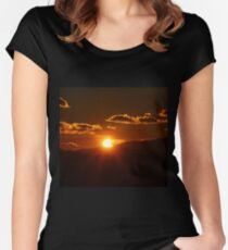 Partial Solar Eclipse Women's Fitted Scoop T-Shirt