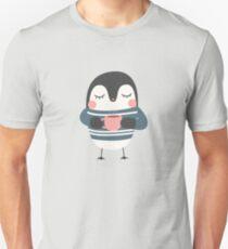 Cute Penguin Drinking Coffee Unisex T-Shirt