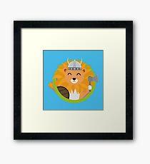 Wikinger Löwe mit Kreis Gerahmtes Wandbild