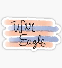 war eagle in watercolor  Sticker