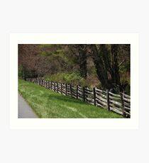 Blue Ridge Parkway Art Print
