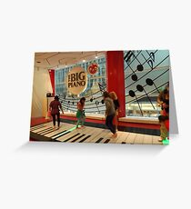 The Big Piano, FAO Schwarz Toy Store, New York City Greeting Card
