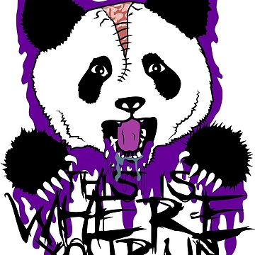 This Is Where You Run - Panda Logo Shirt (Purple) by botarthedsgnr