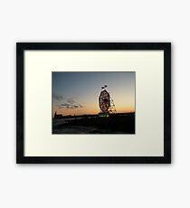 February Jersey City, New Jersey, Classic Colgate Clock at Sunset  Framed Print