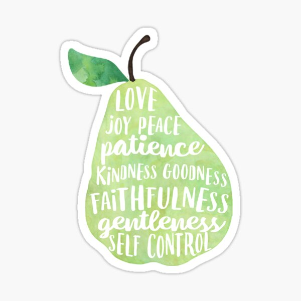 Fruit of the spirit watercolor pear Sticker
