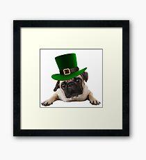 St Patty Pug Framed Print