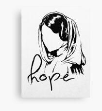 "Princess Leia ""hope"" Canvas Print"