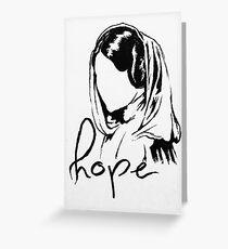 "Princess Leia ""hope"" Greeting Card"