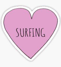 Surfing Love Sticker