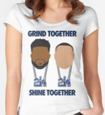 Grind Together Shine Together (Zeke and Dak) Women's Fitted Scoop T-Shirt
