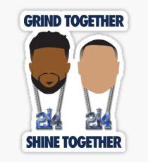 Grind Together Shine Together (Zeke and Dak) Sticker