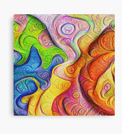 Color Cracks #DeepDream Canvas Print