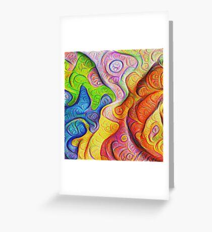 Color Cracks #DeepDream Greeting Card