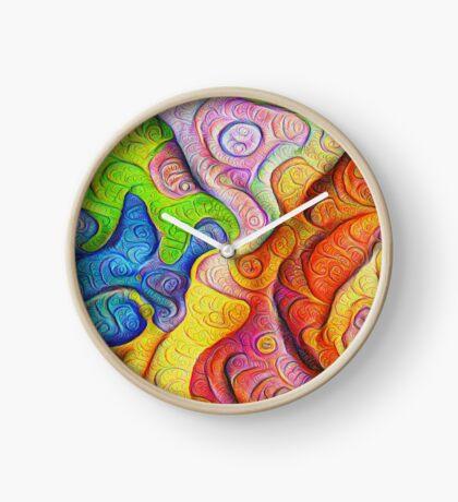 Color Cracks #DeepDream Clock