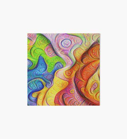 Color Cracks #DeepDream Art Board Print