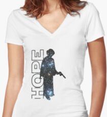 Princess Leia and Hope Women's Fitted V-Neck T-Shirt