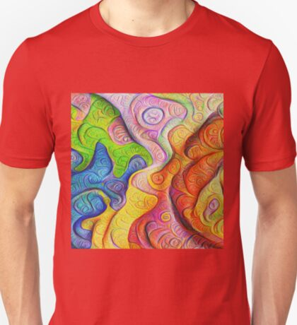 Color Cracks #DeepDream T-Shirt