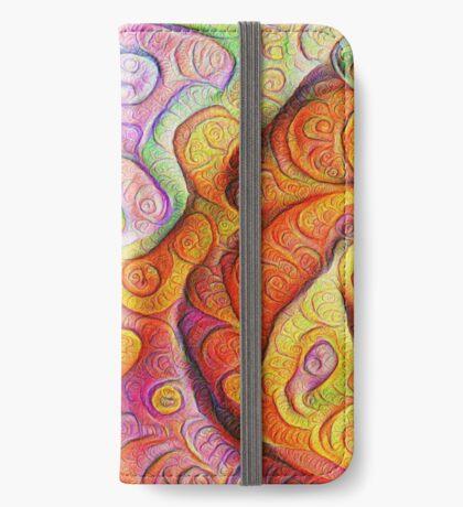 Color Cracks #DeepDream iPhone Wallet