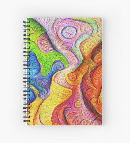 Color Cracks #DeepDream Spiral Notebook