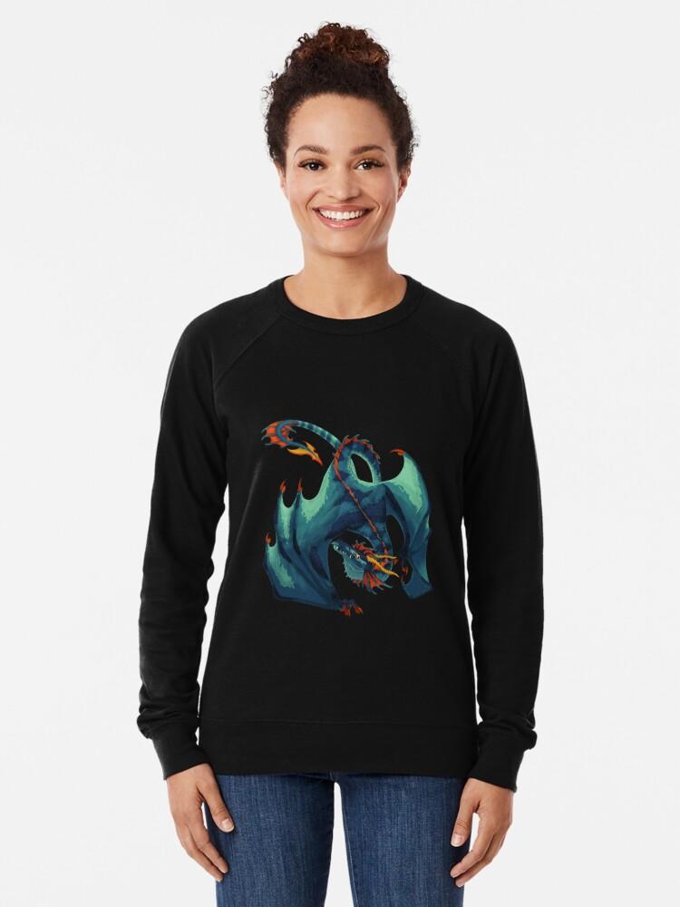 Alternative Ansicht von Blauer Wyvern Leichter Pullover